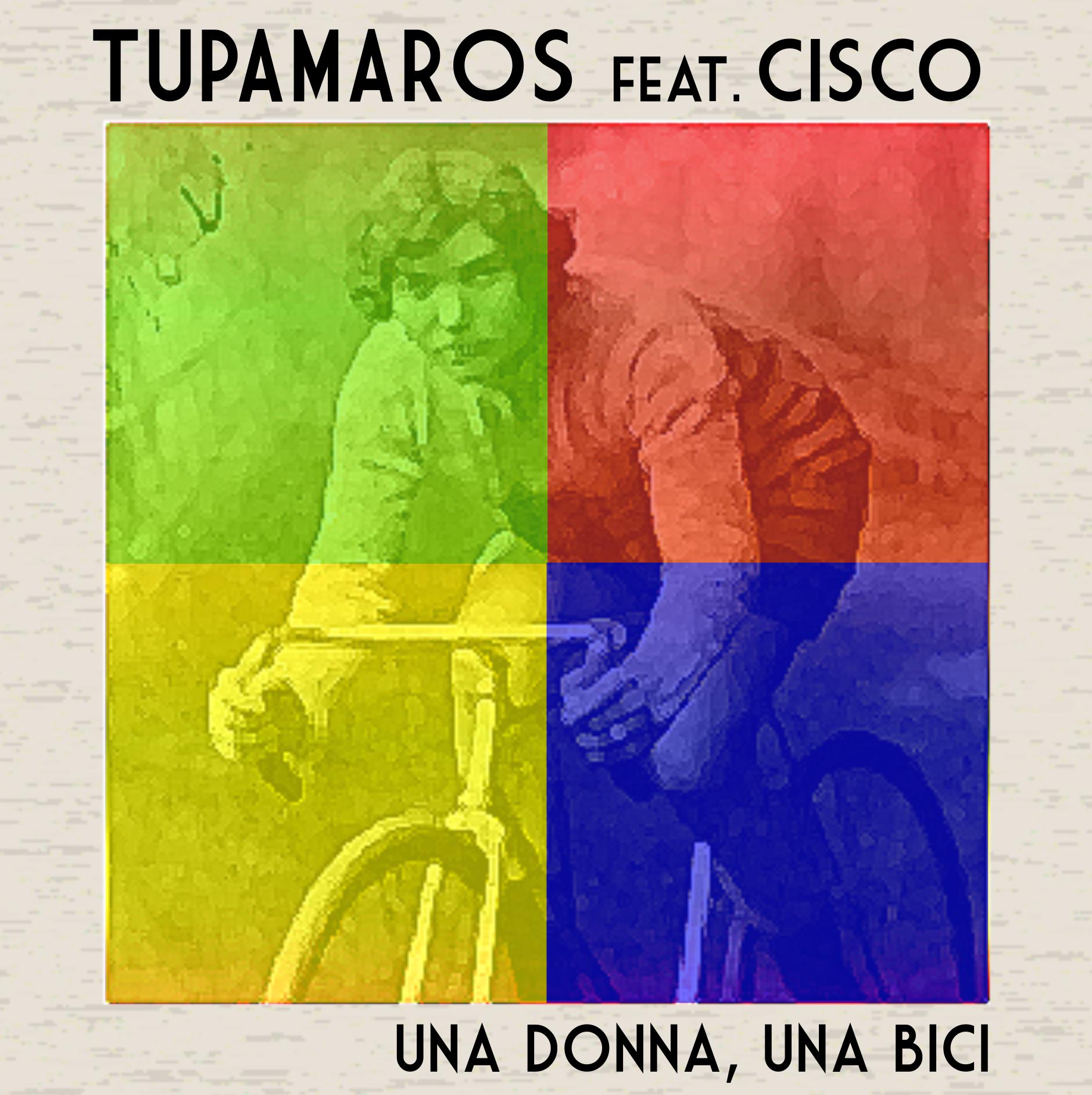 Una donna, una bici.  Tupamaros. Copertina singolo
