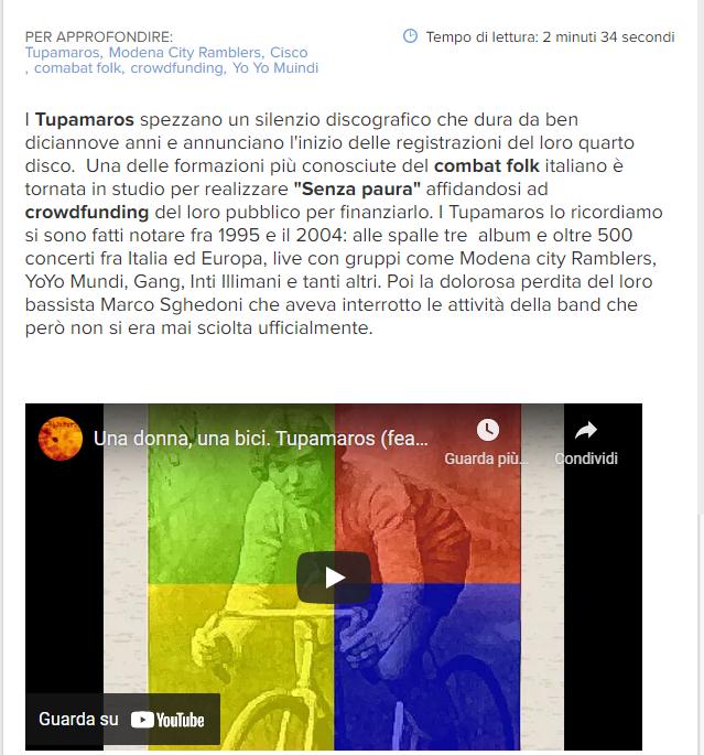 Lo screenshot della pagina de L'Adige
