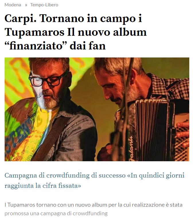 Screenshot da La Gazzetta di Carpi